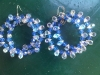 Two toned blue crystal earring with sterling silver earring hook