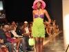 Crocheted Popcorn multi-coloured halter dress with motif neckline(100%mercerized cotton)